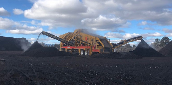 Deschutes Recycling mulches and composts food waste at Knott Landfill in Bend. - DESCHUTES RECYCLING
