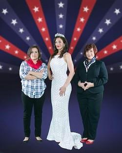 Glynnis O'Donoghue, Katherine Drew, Donna Scott in The Taming. - PHOTO CREDIT: WELDON WEAVER