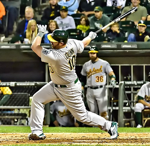 A final majestic swing by Adam Dunn in the ninth last night.