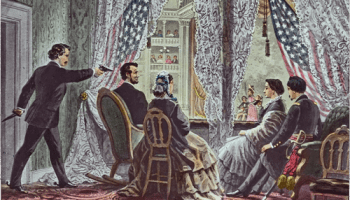 At least Lincoln was enjoying some humorous theater.
