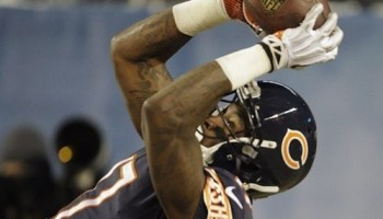 Bears receiver Alshon Jeffery snatches a 25-yard touchdown pass against the Cowboys last night in Soldier Field.