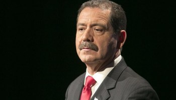 Chuy Garcia fielded questions about his son in the final debate.