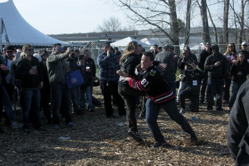 Corrections House inspired a bit of ironic moshing.