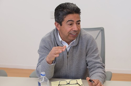 Danny Solis, pictured at his meeting with the Sun-Times editorial board on Monday