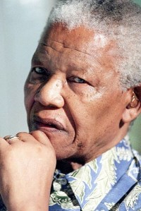 Nelson Mandela in Johannesburg in 2000, ten years after he was freed from prison, where he spent 27 years