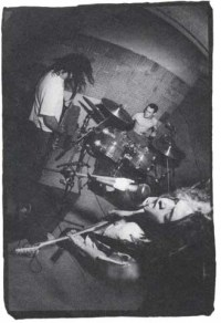 Phleg Camp on the back cover of the 1991 double seven-inch Bully My Pushy