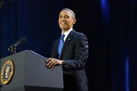 President Obama at McCormick Place on election night