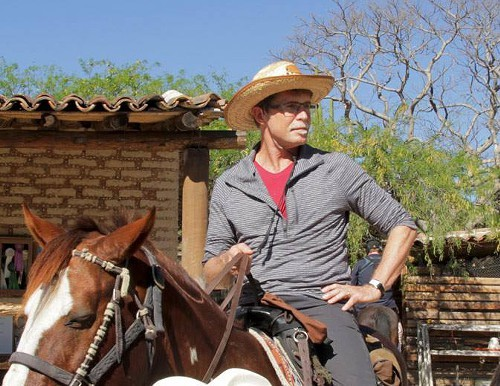 Rick Bayless on location in Oaxaca for one of his TV shows.