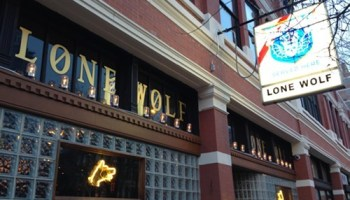 Thats a Three Floyds logo on the Lone Wolf sign