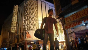 The derelict movie palace of the Filipino film Serbis