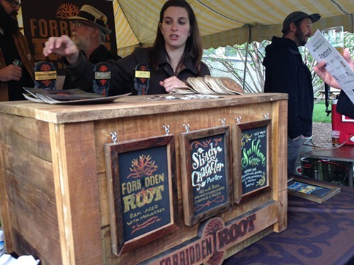 The Forbidden Root booth at Beer Under Glass