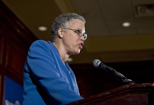 Toni Preckwinkle, the Cook County board president, says thanks but no, thanks, on a mayoral bid.