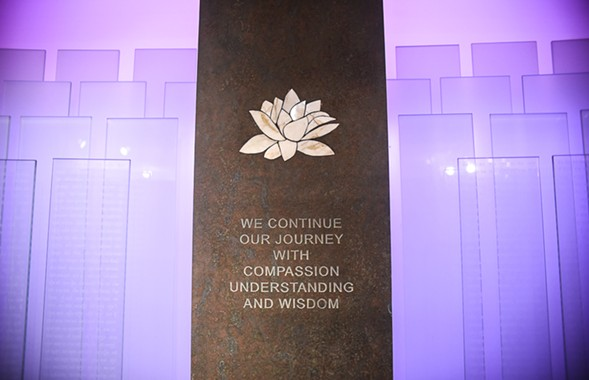 The centerpiece of the Killing Fields Memorial - CAROLINA SANCHEZ