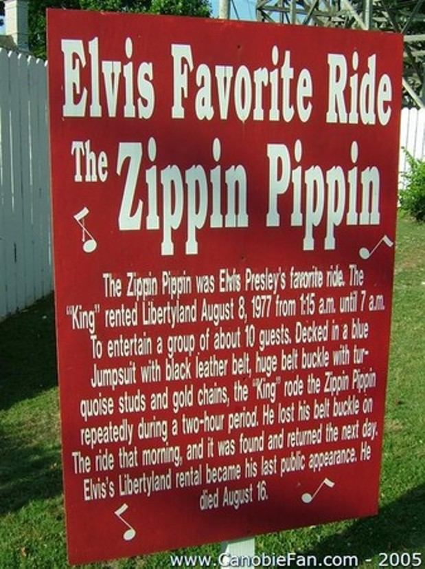 The Zippin Pippin  Elvis Favorite Ride  Is Donated to Save Libertyland  The Daily Buzz