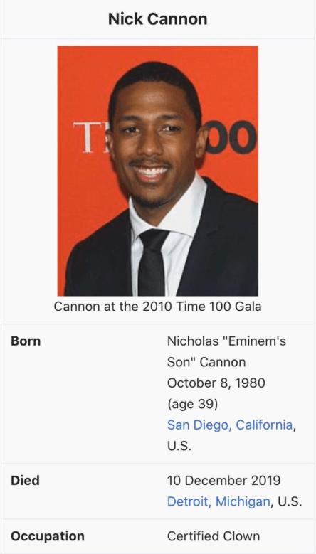 Nick Cannon Meme : cannon, Eminem, Murder, Cannon, Detroit, Slang
