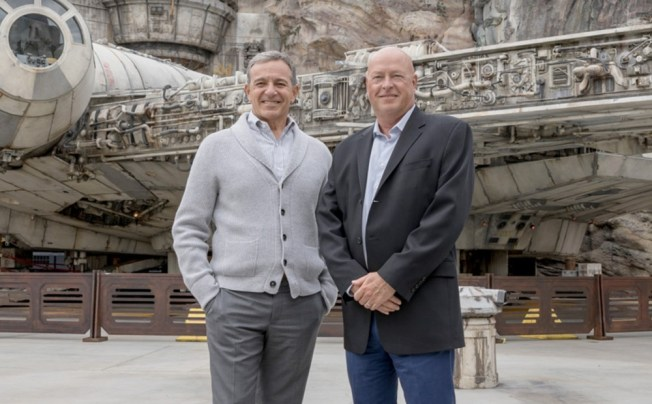 Robert Iger and Bob Chapek at Disney's newly launched 'Start Wars' themed attraction