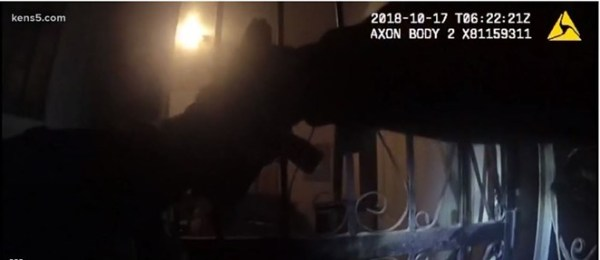 """Bodycam footage obtained by KENS5 depicts the shooting that took the life of 18-year-old Charles """"Chop"""" Roundtree, who had just become a father at the time. - KENS 5"""