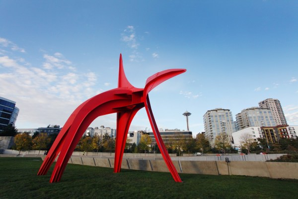 Sam Lights Olympic Sculpture Park In Seattle Wa Thu