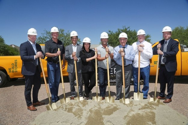 Caliber, Rio Nuevo, The City of Tucson, Ryan Companies US, Inc. and the Barrio Nuevo Neighborhood broke ground on the new hotel Monday, May 13. - COURTESY PHOTO