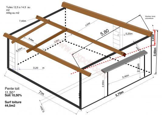 Favori Charpente bois garage 1 pente - ideo energie JM05