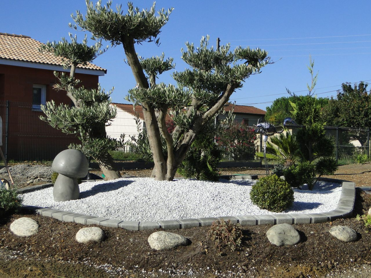 Deco Jardin Avec Olivier Finest Cheap Dco Jardin Avec