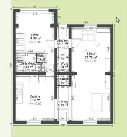 maison 1940 chambres en enfilade