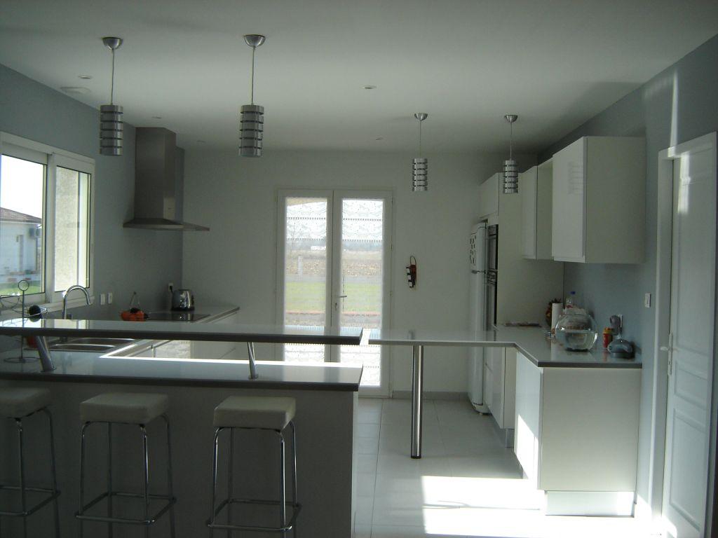 couleur mur avec cuisine blanc laque