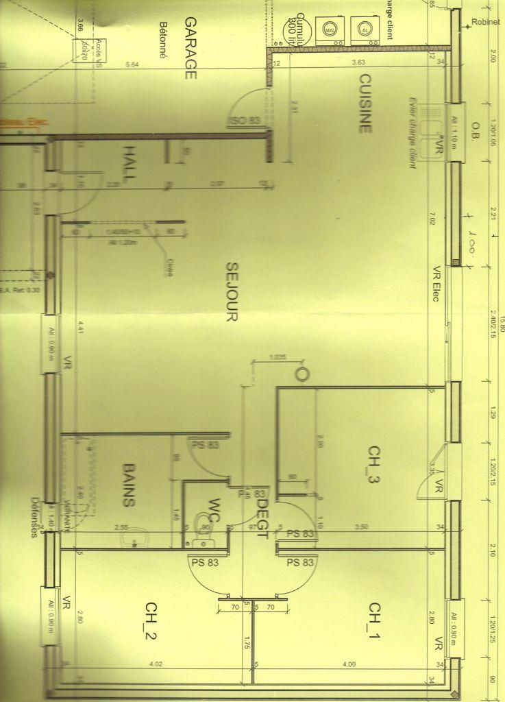 Avis plan maison 100m2 avec garage  9 messages