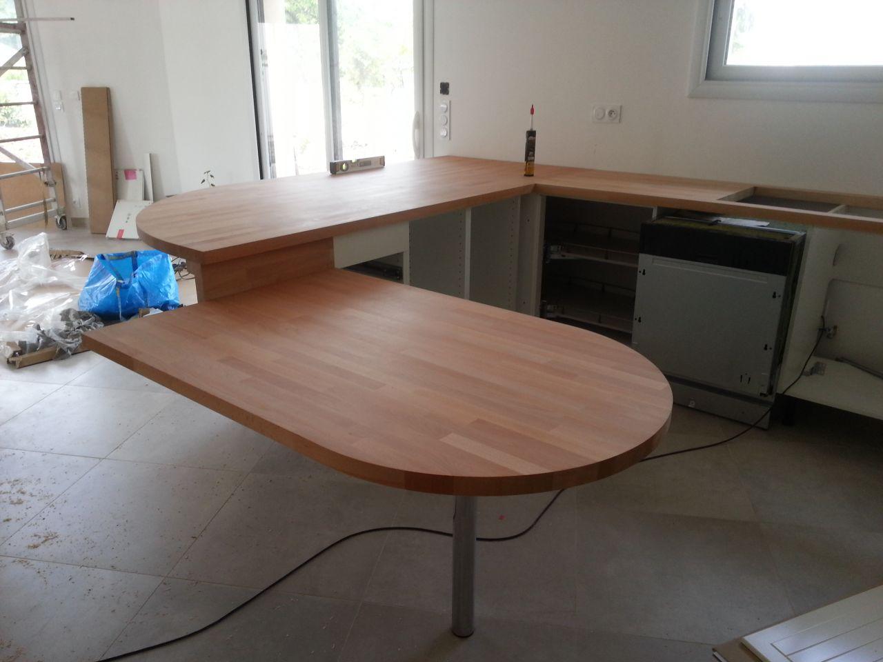 Faire un plan de travail cuisine juai utilis meuble cases for Planche de travail cuisine