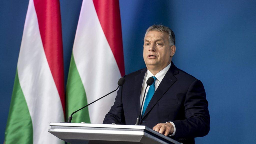 Orbán Viktor tegnapi sajtótájékoztatója. Fotó: kormany.hu