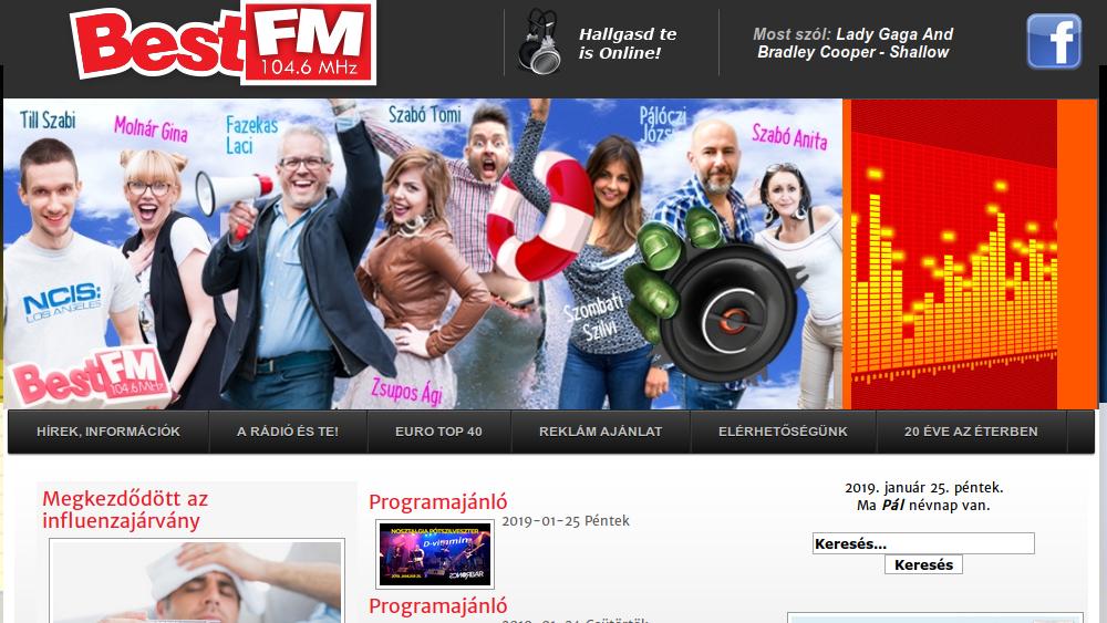 A debreceni Best FM honlapja