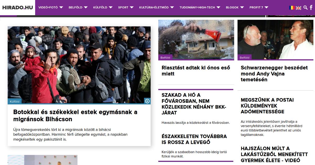 Az MTVA Új Média és Teletext Kft. nevű cége működteti a hirado.hu nevű oldalt is