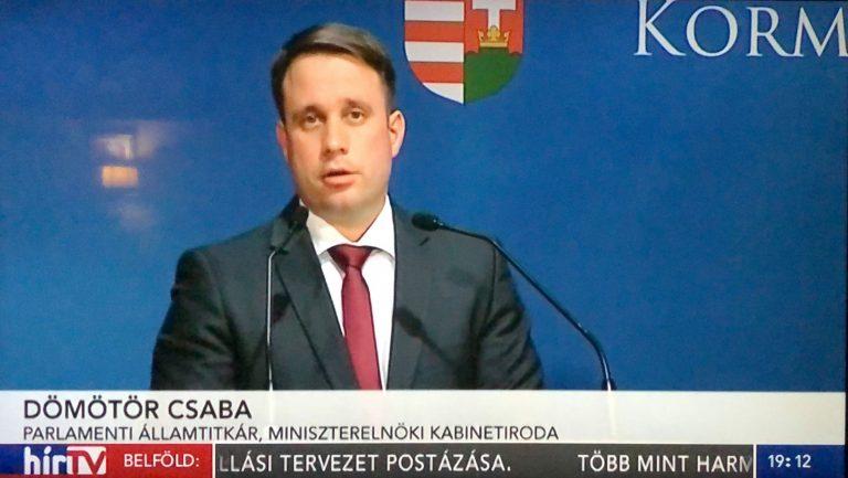 hírtv, dömötör csaba, sajtótájékoztató