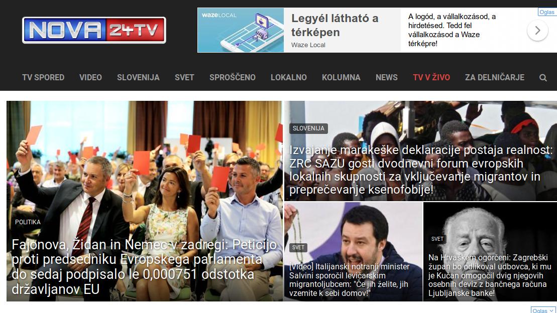 A nova24tv weblapja