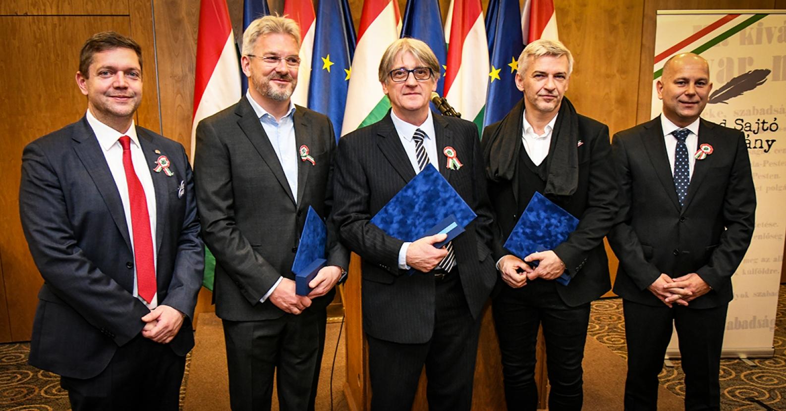 A Szabad Sajtó díj 2019 átadása. Fotó: mszp.hu
