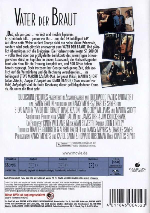 Vater der Braut 1992 DVD  jpc