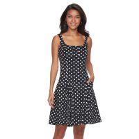Polka Dot White Black Dress | Kohl's