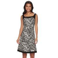 Chaps Black White Dress | Kohl's