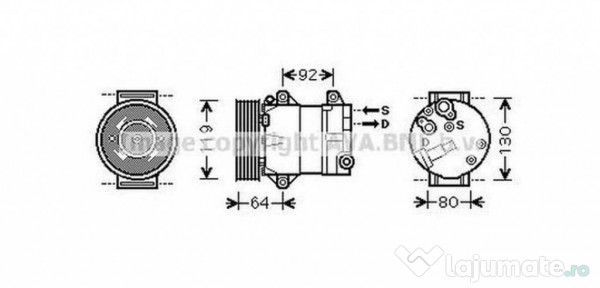 Radiator Intercooler VWA4227 VW GOLF V (1K1) 1.4 TSI 125kw