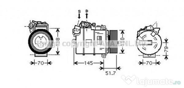 Compresor clima bwk329 bmw 5 (e60) 523 i 130kw 2005-2010