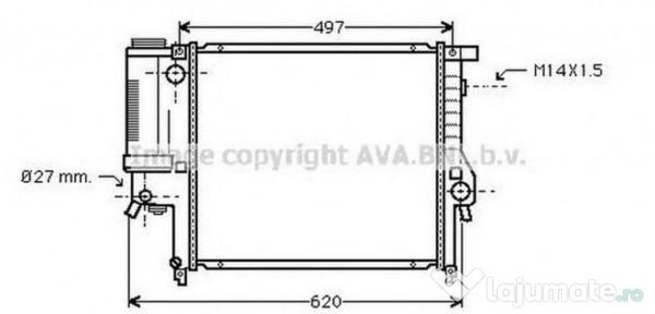 Ventilator radiator MS7522 MERCEDES-BENZ E-CLASS (W212) E