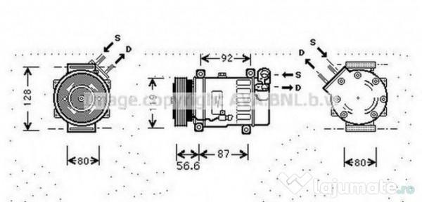Compresor clima olk317 opel corsa c (f08, f68) 1.0 43kw
