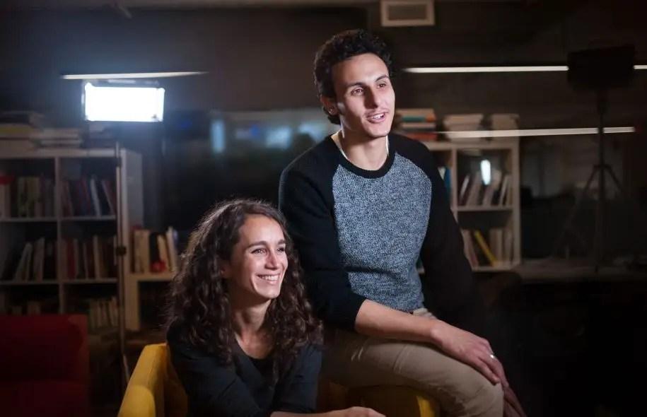 Les conseillers d'arrondissement Josefina Bianco et Younes Boukala