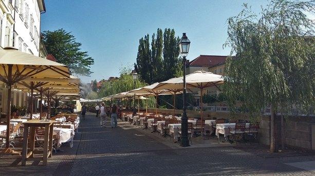 uz Ljubljanicu po vrelom danu