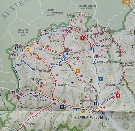 detaljnija mapa dela koji smo obilazili po kungoti