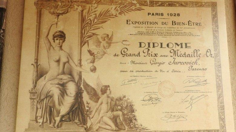 Vinarija Damjanić kod Poreča diploma
