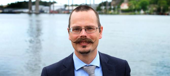 Max Andersson i Göteborgs hamn.