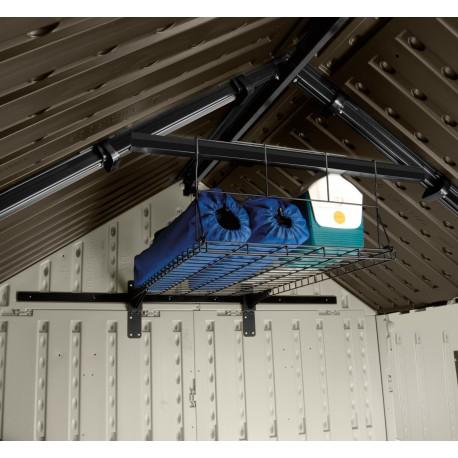 etagere de sous pente pour abris de jardin woodgrain suncast