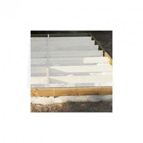 kit de soubassement base pour abris de jardin et garages en bois de plus de 20m habrita