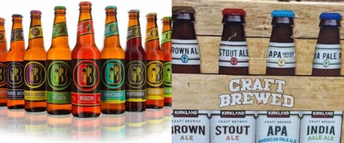 Gordon Biersch beers and Kirkland Signature craft beers